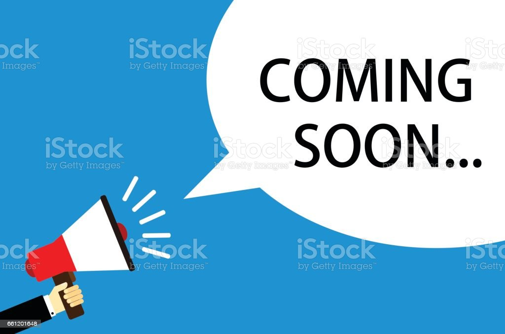 Coming Soon Vector With Loudspeaker