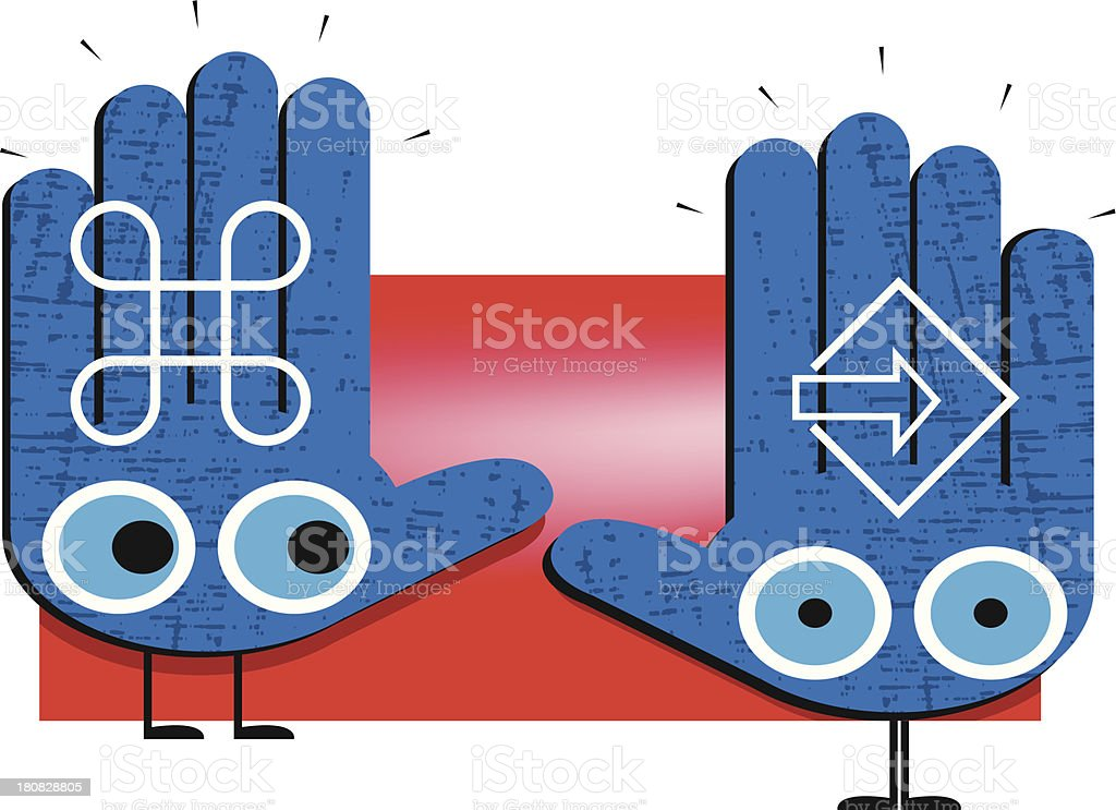 Command and obey! royalty-free stock vector art