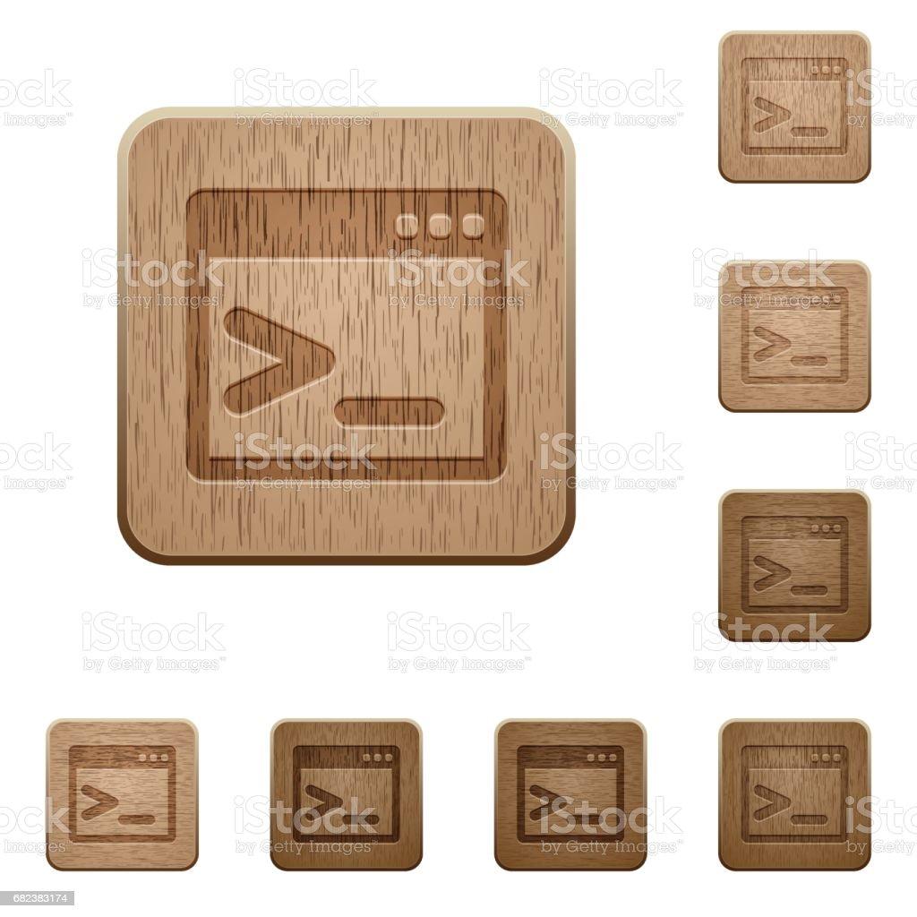Command prompt wooden buttons command prompt wooden buttons - stockowe grafiki wektorowe i więcej obrazów deska royalty-free