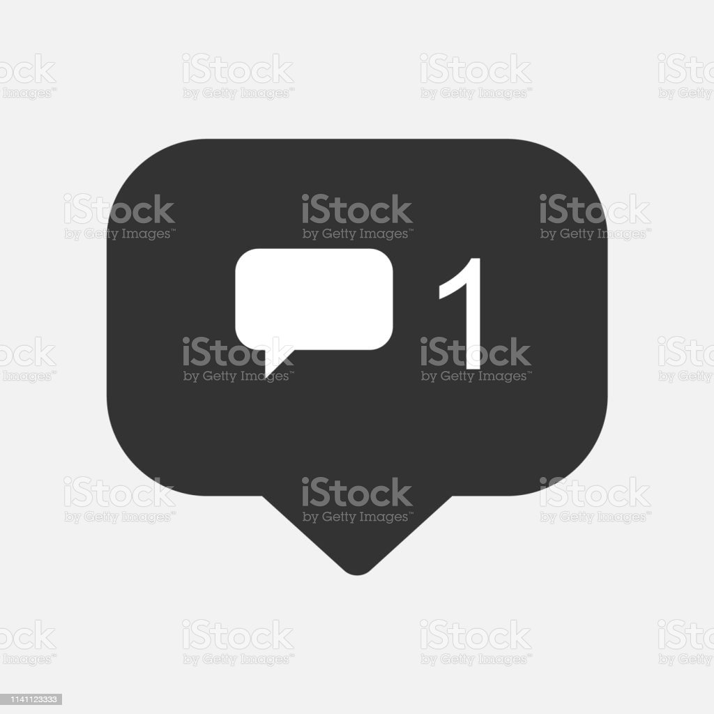 Comment Notification Symbol Instagram Button For Social Media Stock