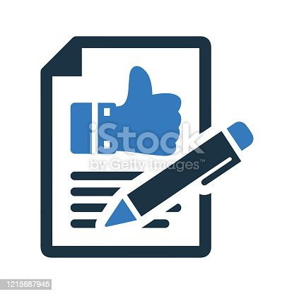 istock Comment Writing Icon, feedback, review submit 1215687945