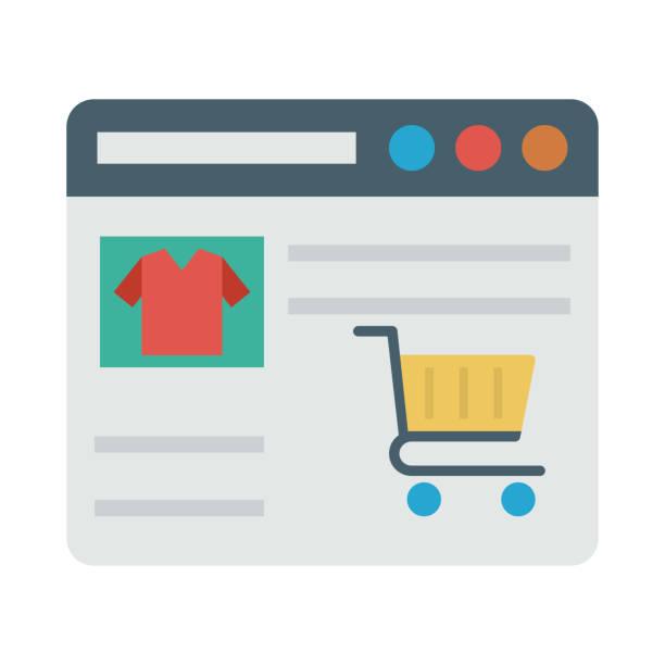 5db9d5fccf Vectores de Tiendas Para Comprar Online e Ilustraciones Libres de ...