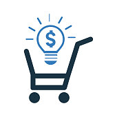 E commerce solution icon. Use for commercial, print media, web or any type of design projects.