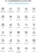 Commerce theme line icon set