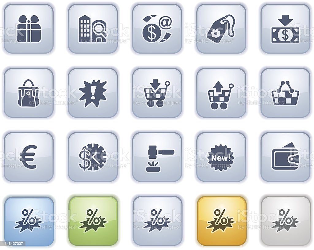 Commerce web icons. Color series.