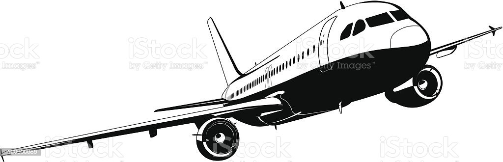 Commercial airliner royalty-free commercial airliner stock vector art & more images of air vehicle