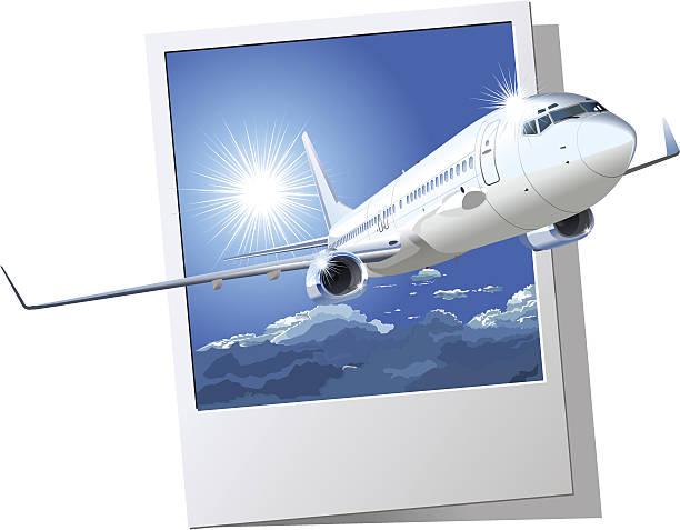 Commercial airliner vector art illustration