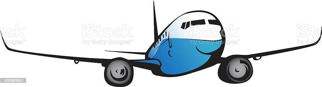 Commercial airplane flying. vector art illustration