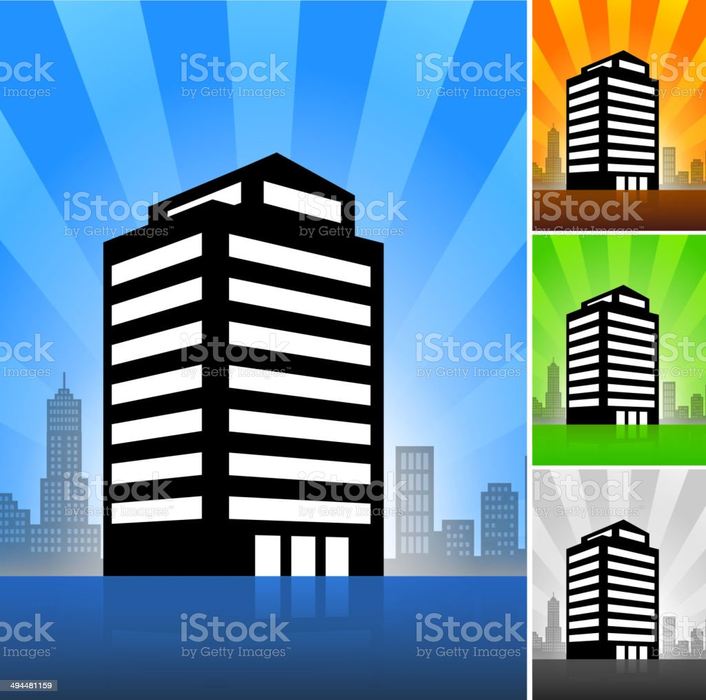 Commercial Building Color Set royalty-free commercial building color set stock vector art & more images of apartment