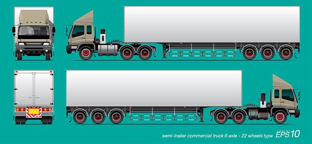 commercial cargo trailer truck