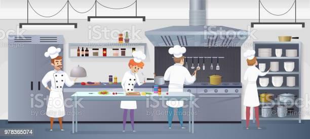 Commercial kitchen with cartoon characters chef vector id978365074?b=1&k=6&m=978365074&s=612x612&h=4ihl hpfixhvaycjgclxe3jr kzwmgzpdcuflexjv6i=