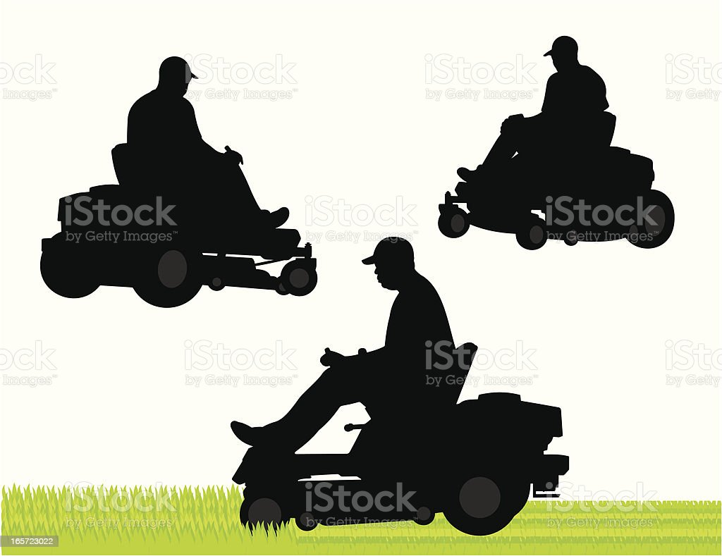 Commercial Lawn Service royalty-free stock vector art