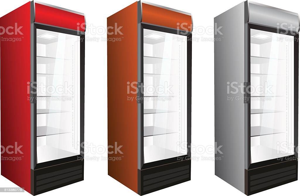Kühlschrank Getränke : Kommerzielle kühlschrank für getränke und frische vektorillustration