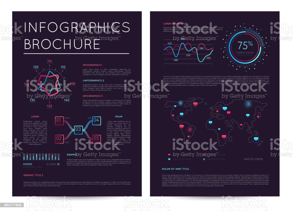 Commercial report with various infographics royalty-free commercial report with various infographics stock vector art & more images of abstract