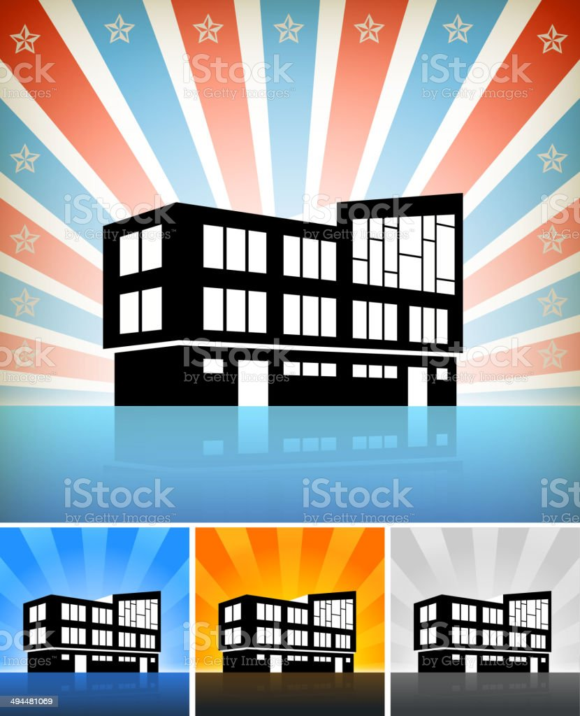 Commercial Residential Building Set with Stars royalty-free commercial residential building set with stars stock vector art & more images of american culture
