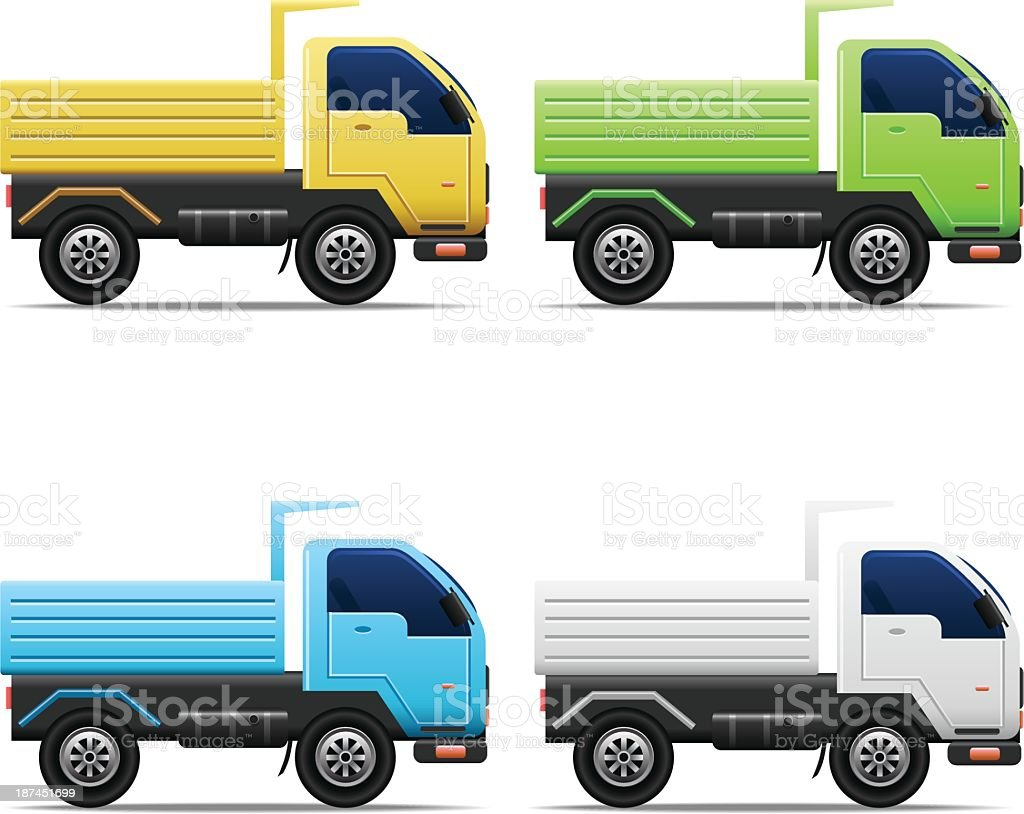 Commercial Truck Set royalty-free commercial truck set stock vector art & more images of blank
