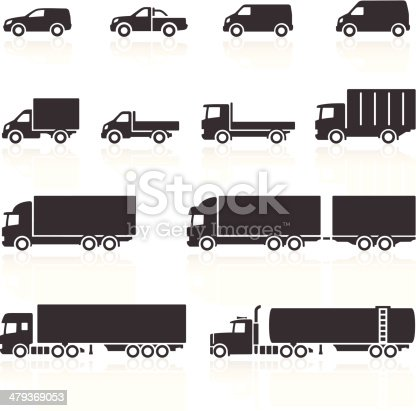 Commercial Vehicle Icons. Layered & grouped for ease of use. Download includes EPS 8, EPS 10 and high resolution JPEG & PNG files.