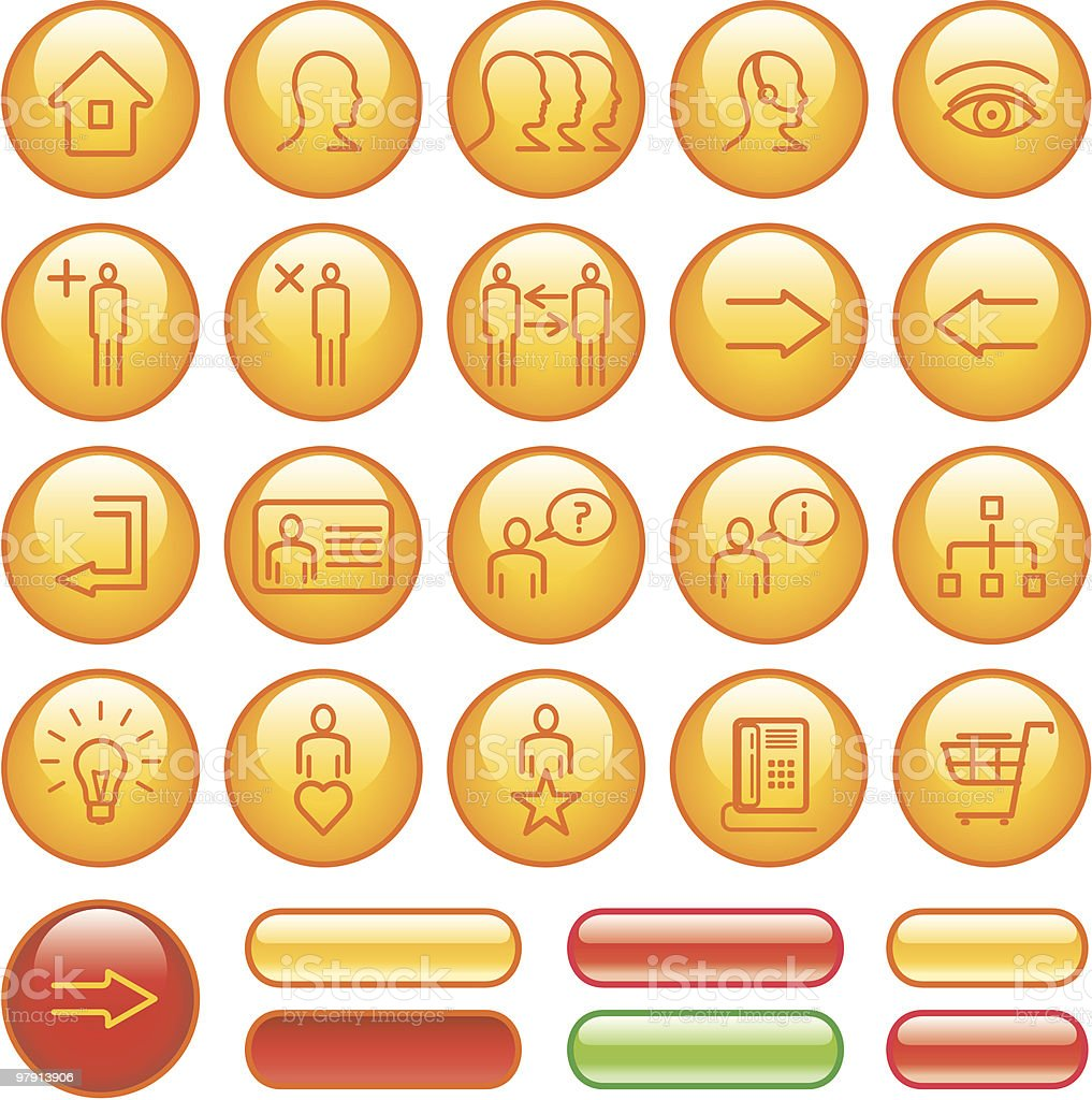 Commercial Website Icon Set royalty-free commercial website icon set stock vector art & more images of adult