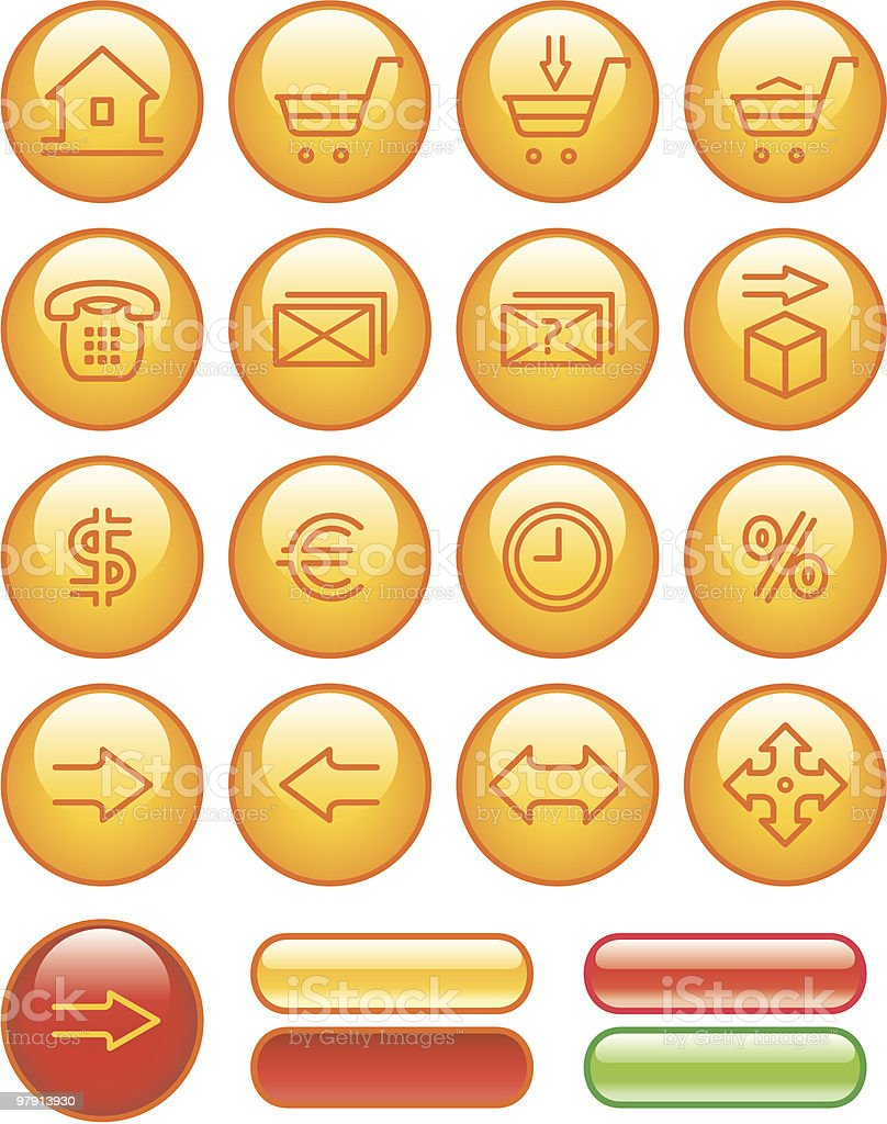 Commercial Website Icons Set royalty-free commercial website icons set stock vector art & more images of arrow symbol