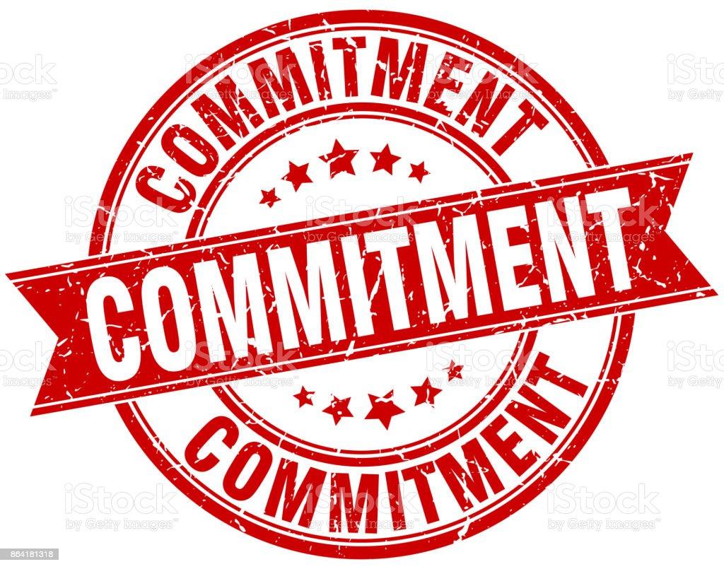 commitment round grunge ribbon stamp royalty-free commitment round grunge ribbon stamp stock vector art & more images of award ribbon