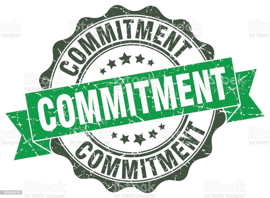 commitment stamp. sign. seal vector art illustration
