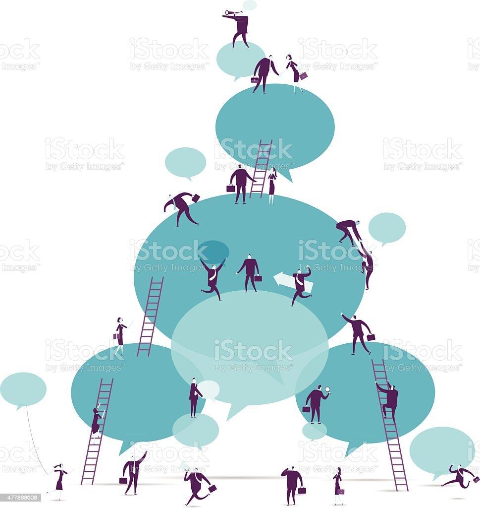 Commnunication vector art illustration