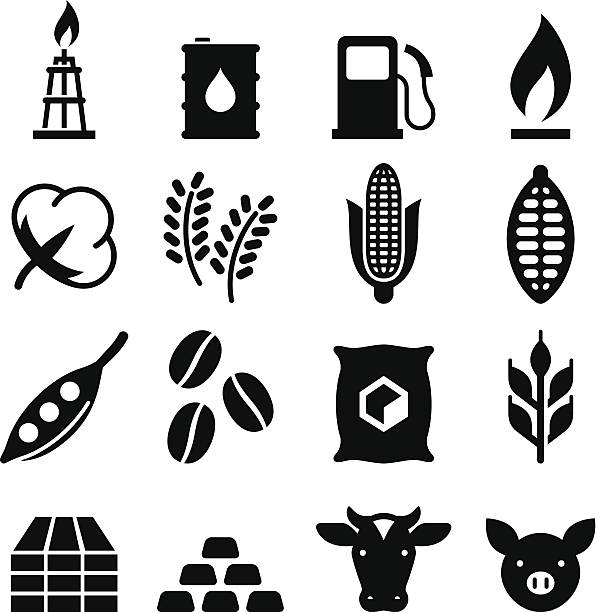 Waren-Icons-Schwarz-Serie – Vektorgrafik