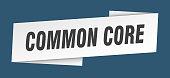 common core banner template. common core ribbon label sign