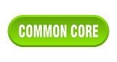 common core button. rounded sign isolated on white background