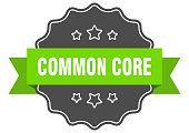 common core label. common core isolated seal. Retro sticker sign