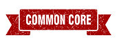 common core ribbon. common core grunge band sign. common core banner