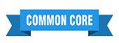 common core ribbon. common core paper band banner sign