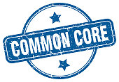 common core stamp. common core round vintage grunge sign. common core