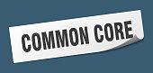 common core sticker. common core square sign. common core. peeler