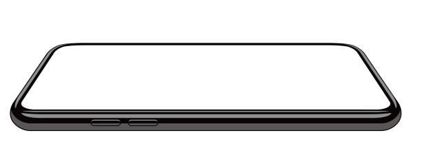 ilustrações de stock, clip art, desenhos animados e ícones de common smartphone mock illustration (realistic / side) - na superfície