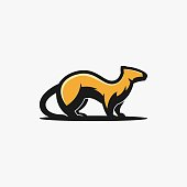 Common Weasels Illustration Vector Template. Suitable for Creative Industry, Multimedia, entertainment, Educations, Shop, and any related business.