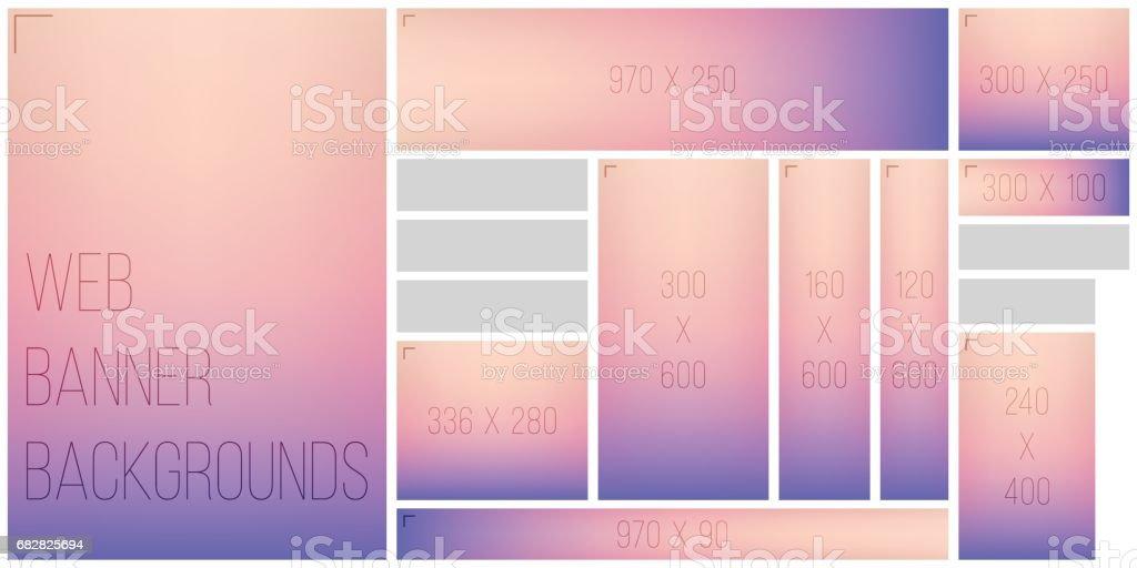 Common Web Banner Size Color Vignette Background Palette Lizenzfreies common web banner size color vignette background palette stock vektor art und mehr bilder von abstrakt