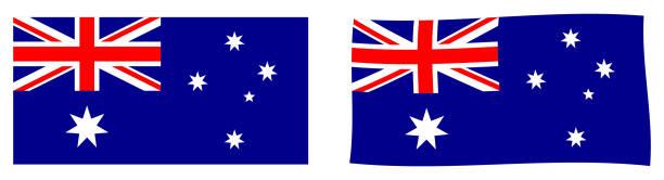 ilustrações, clipart, desenhos animados e ícones de bandeira da commonwealth da austrália. versão simples e agitando ligeiramente. - bandeira union jack