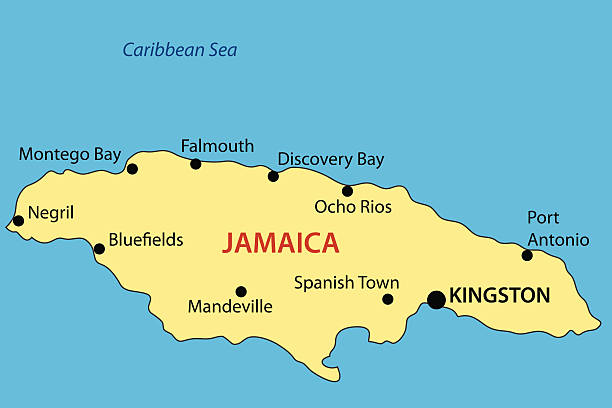 Royalty free kingston jamaica city clip art vector images commonwealth of jamaica vector map vector art illustration gumiabroncs Gallery