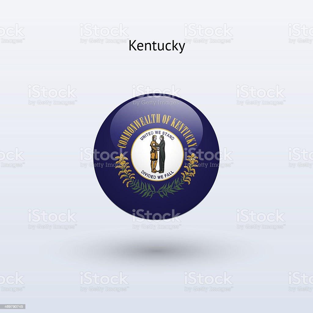 Commonwealth of Kentucky bandeira - ilustração de arte em vetor