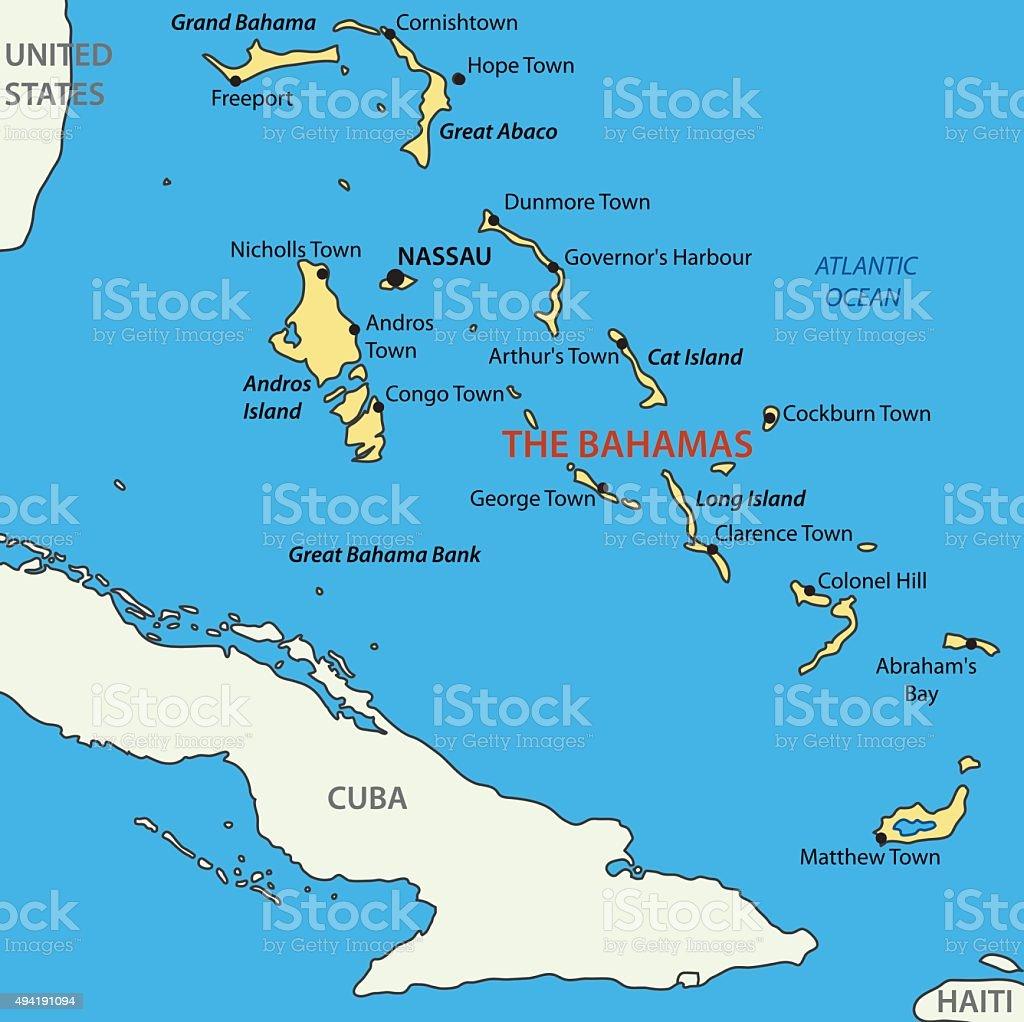 バハマ国ベクトルマップ のイラ...