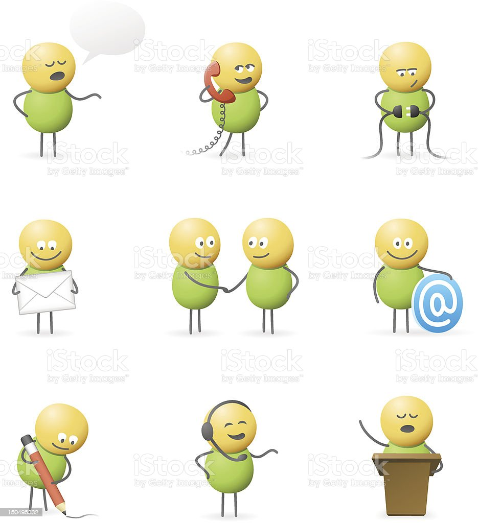 Communicating Characters royalty-free stock vector art