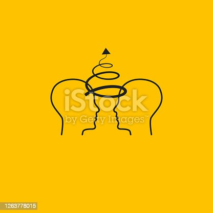istock Communication and brainstorming icon 1263778015