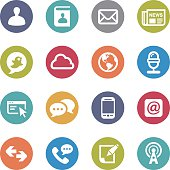 Communication and Media Icons - Circle Series
