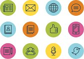 istock Communication and media icons 165955056