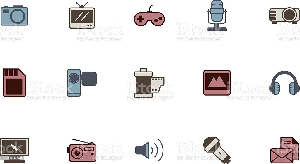 communication and media icons royalty-free communication and media icons stock vector art & more images of camera - photographic equipment