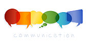 Possible use for social media communication concept. Chat, dialogue or communication in the workplace or between friends. Interact in the virtual community