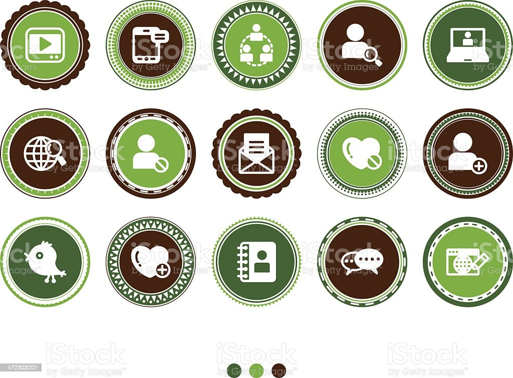communication and social media icons royalty-free stock vector art