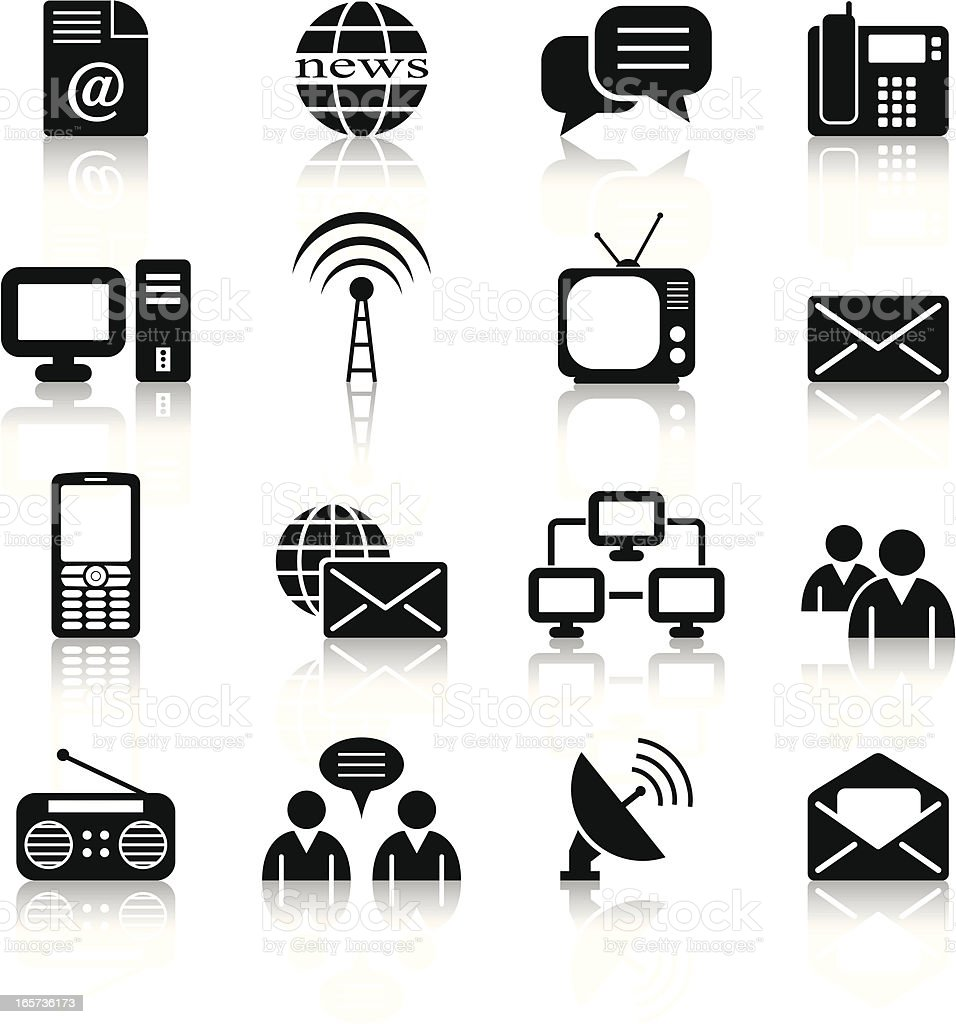 communication and web icons royalty-free stock vector art