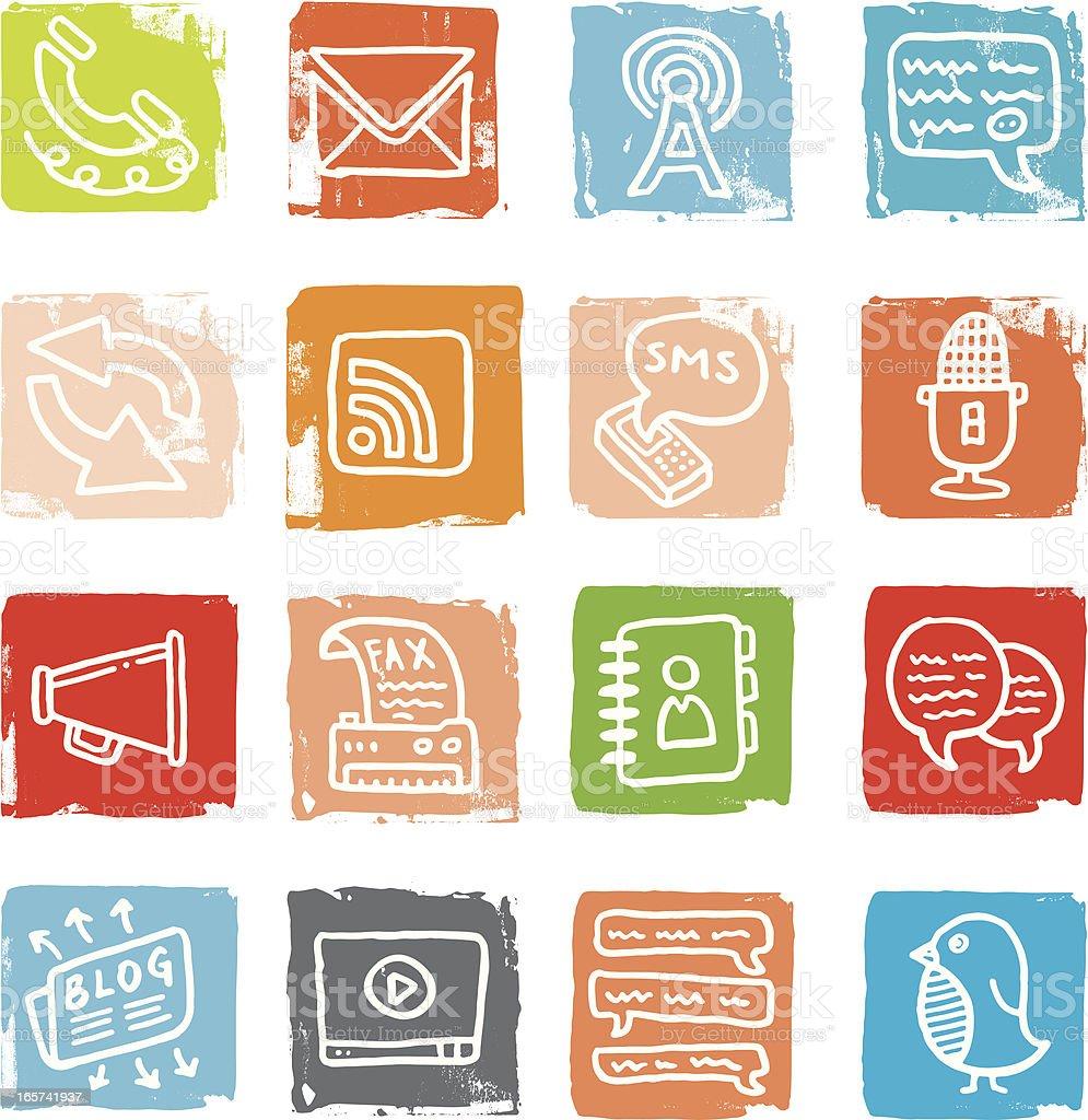 Communication block doodles royalty-free stock vector art